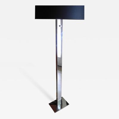 George Kovacs Modern Chrome Floor Lamp by George Kovacs