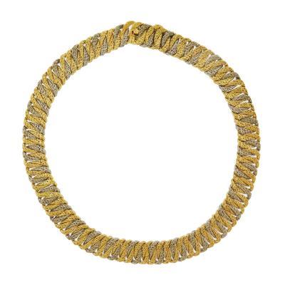 George LEnfant Georges LEnfant Two Tone Gold Link Necklace