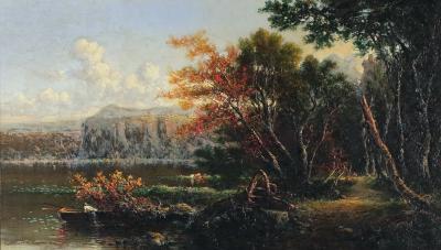 George Loring Brown Lake Of Nemi Near Rome