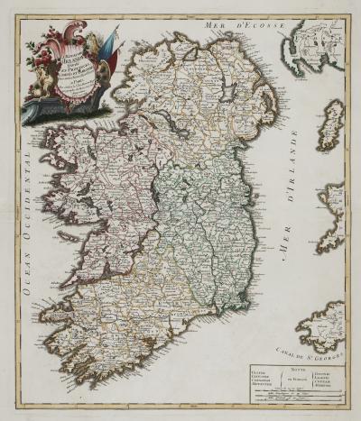 George Louis Le Rouge Le Rouges large format map of Ireland