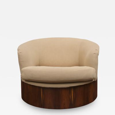 George Mulhauser George Mulhauser Rosewood Swivel Lounge Chair for Plycraft