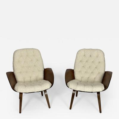 George Mulhauser Iconic Pair of Mr Chair Lounge by George Mulhauser