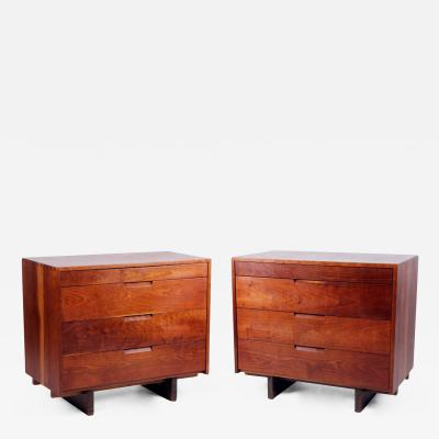 George Nakashima A Pair of Dovetailed Dressers by George Nakashima