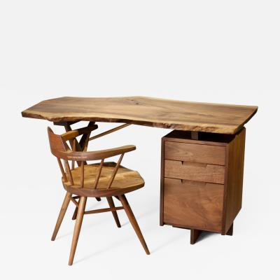 George Nakashima Conoid Desk and Arm Chair