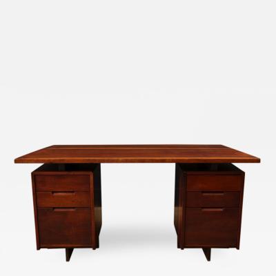 George Nakashima Double Pedestal Desk by George Nakashima c 1967