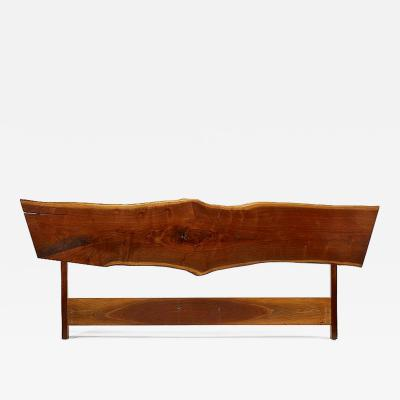 George Nakashima Exceptional Walnut King Bed Headboard George Nakashima