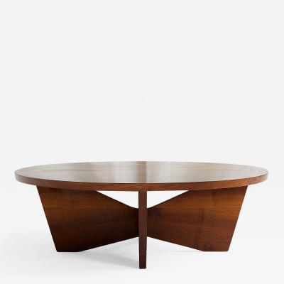 George Nakashima GEORGE NAKASHIMA CIRCULAR COFFEE TABLE