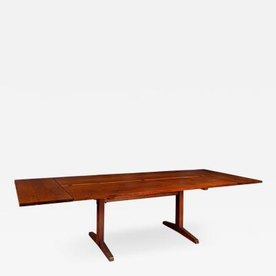 George Nakashima George Nakashima Black Walnut Trestle Dining Table with Extensions