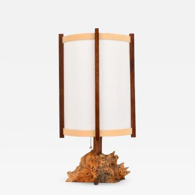 George Nakashima George Nakashima Buckeye Burl Parchment Table Lamp