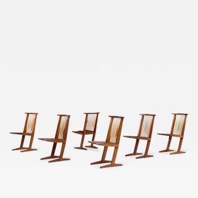 George Nakashima George Nakashima Conoid Dining Chairs Set of Six