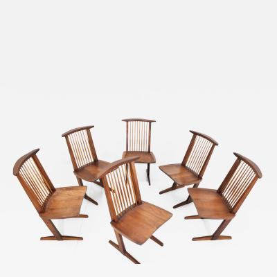 George Nakashima George Nakashima Conoid Dining Chairs Set of Six 1970s