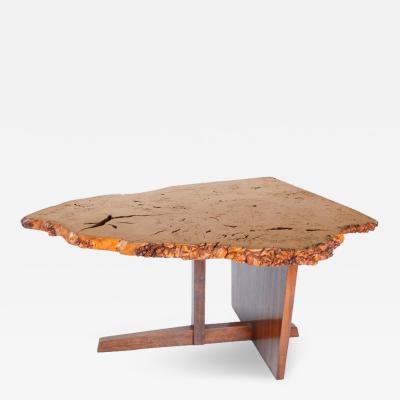 George Nakashima George Nakashima English Oak Burl and Laurel Minguren II Table 1977