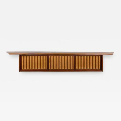 George Nakashima George Nakashima Free Edge Black Walnut Hanging Wall Cabinet