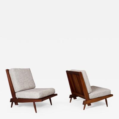 George Nakashima George Nakashima Pair of Armless Cushion Chairs 1950s