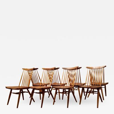 George Nakashima George Nakashima Set of 8 Black Cherry New Chairs Widdicomb 1960