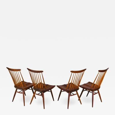 George Nakashima George Nakashima Set of Four Walnut and Oak New Chairs