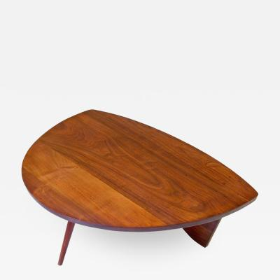 George Nakashima George Nakashima Shell Shaped Coffee Table in American Black Walnut 1940s