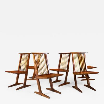 George Nakashima George Nakashima Six Conoid Chairs