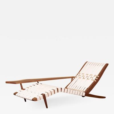 George Nakashima George Nakashima Studio Chaise Lounge Long Chair in Walnut US 2021
