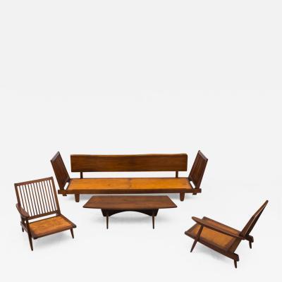 George Nakashima George Nakashima Suite of Black Walnut Furniture USA 1952