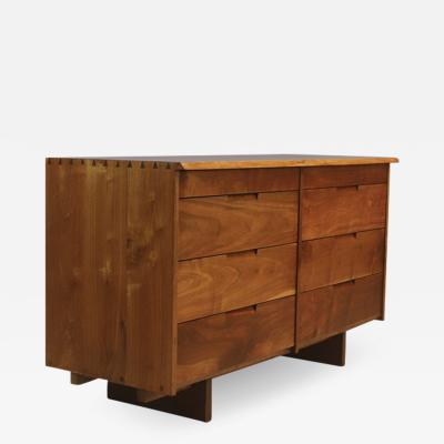 George Nakashima George Nakashima Walnut Chest of Drawers with Live Edge 1960s