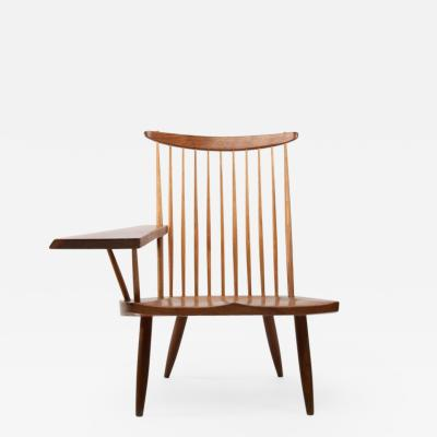 George Nakashima George Nakashima Walnut Lounge chair Sap Arm Right 1975 With COA