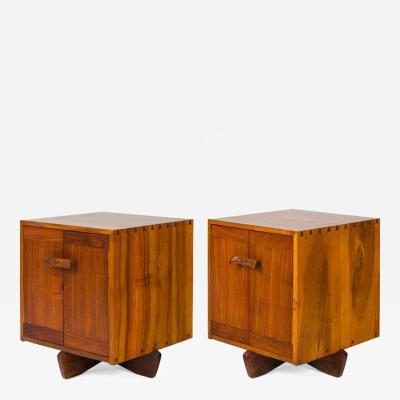 George Nakashima George Nakashima Walnut Maple Burl Kornblut Nightstands or Cabinets