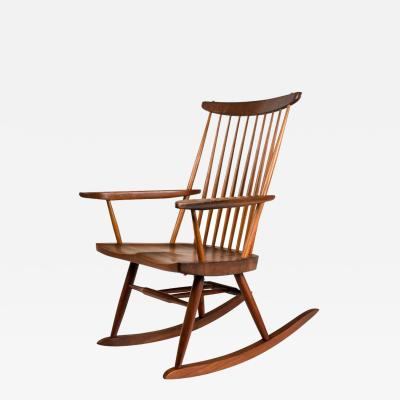 George Nakashima George Nakashima Walnut and Poplar New Chair Rocker USA 1961