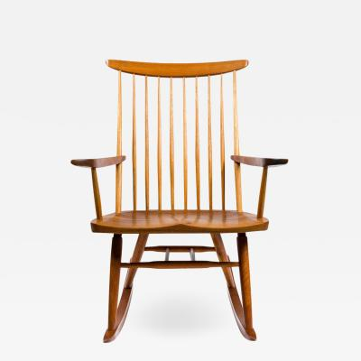 George Nakashima George Nakashima Walnut And Poplar New Chair Rocker USA  1978