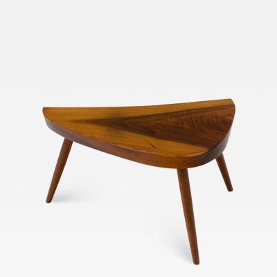 George Nakashima George Nakashima Wepman Walnut Occasional Table USA 1960s