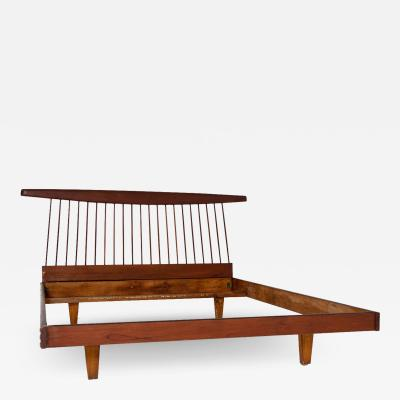 George Nakashima George Nakashima style wooden bed in original condition 1950s