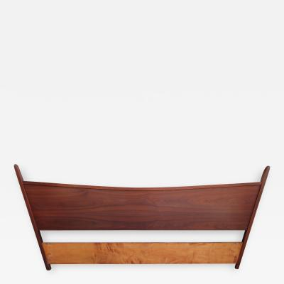 George Nakashima Magnificent George Nakashima Widdicomb Kingsize Headboard Bed Origins Collection