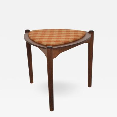 George Nakashima Mid Century Modern Triangular Side Table with Reversible Top