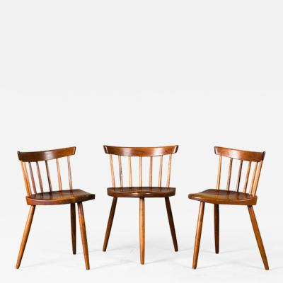 George Nakashima Nakashima Mira Chairs set of 3