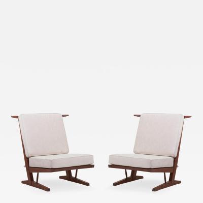 George Nakashima Pair of Conoid Lounge Chairs by George Nakashima