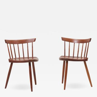 George Nakashima Pair of George Nakashima Studio Mira Nakashima Mira Chair in Walnut