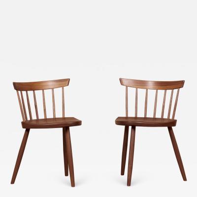 George Nakashima Pair of Nakashima Studio Mira Nakashima Mira Chairs in Walnut US 2021