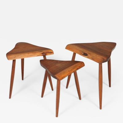 George Nakashima Set of Amoeba Nesting Tables by George Nakashima