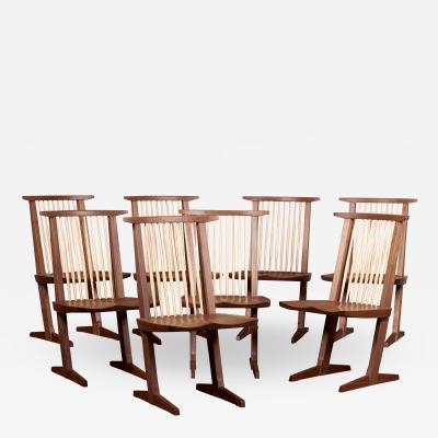 George Nakashima Set of Eight Conoid Dining Chairs by George Nakashima Studio US 2021