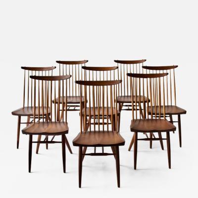 George Nakashima Set of Eight George Nakashima Dining Chairs