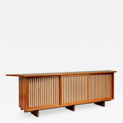 George Nakashima Triple Sliding Door Cabinet by George Nakashima