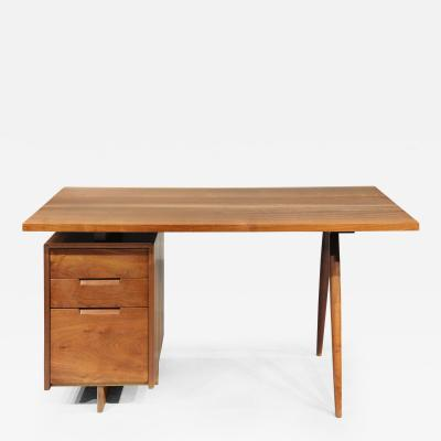 George Nakashima Turned Leg Desk by George Nakashima 1959