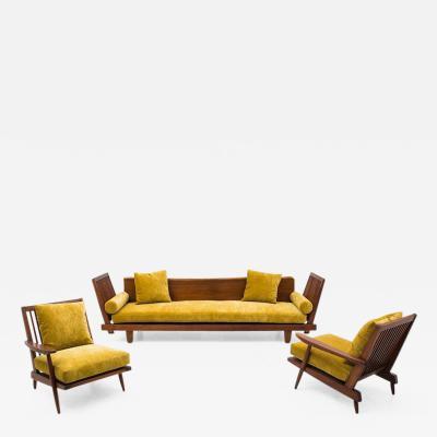 George Nakashima Unique Suite of Black Walnut Furniture
