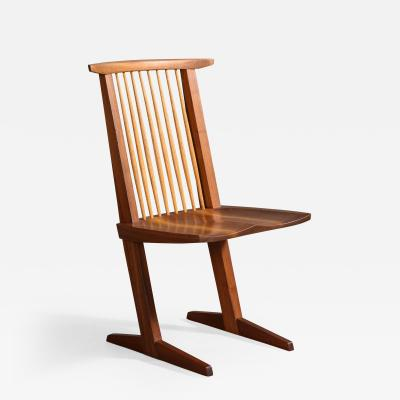 George Nakashima Walnut Conoid Chair by George Nakashima