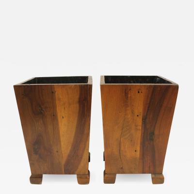George Nakashima Wood Waste Basket in the Style of George Nakashima