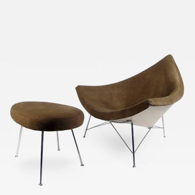 George Nelson Early Coconut Chair and Ottoman by George Nelson 1955
