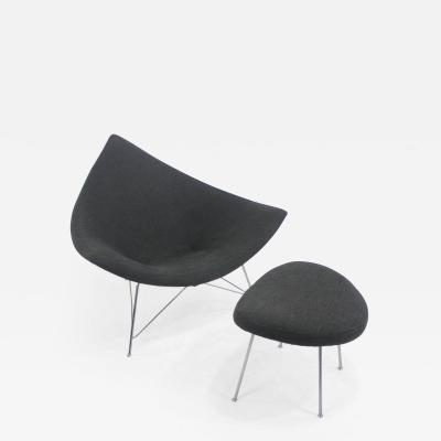 George Nelson Early Edition Coconut Chair Ottoman by George Nelson for Herman Miller