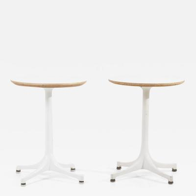 George Nelson Early Pair of Pedestal Side Tables by George Nelson for Contura Herman Miller