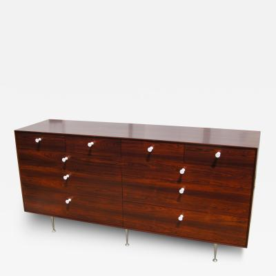 George Nelson Early Thin Edge Ten Drawer Rosewood Dresser by George Nelson for Herman Miller