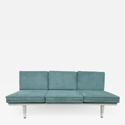 George Nelson George Nelson Modern Sofa for Herman Miller in Ethereal Mint Green 1950s USA